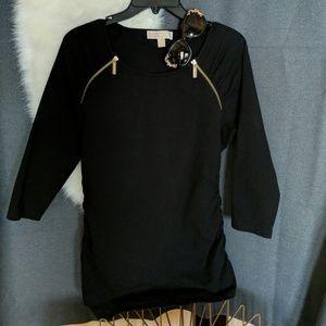 Michael Kors szL black blouse top like new